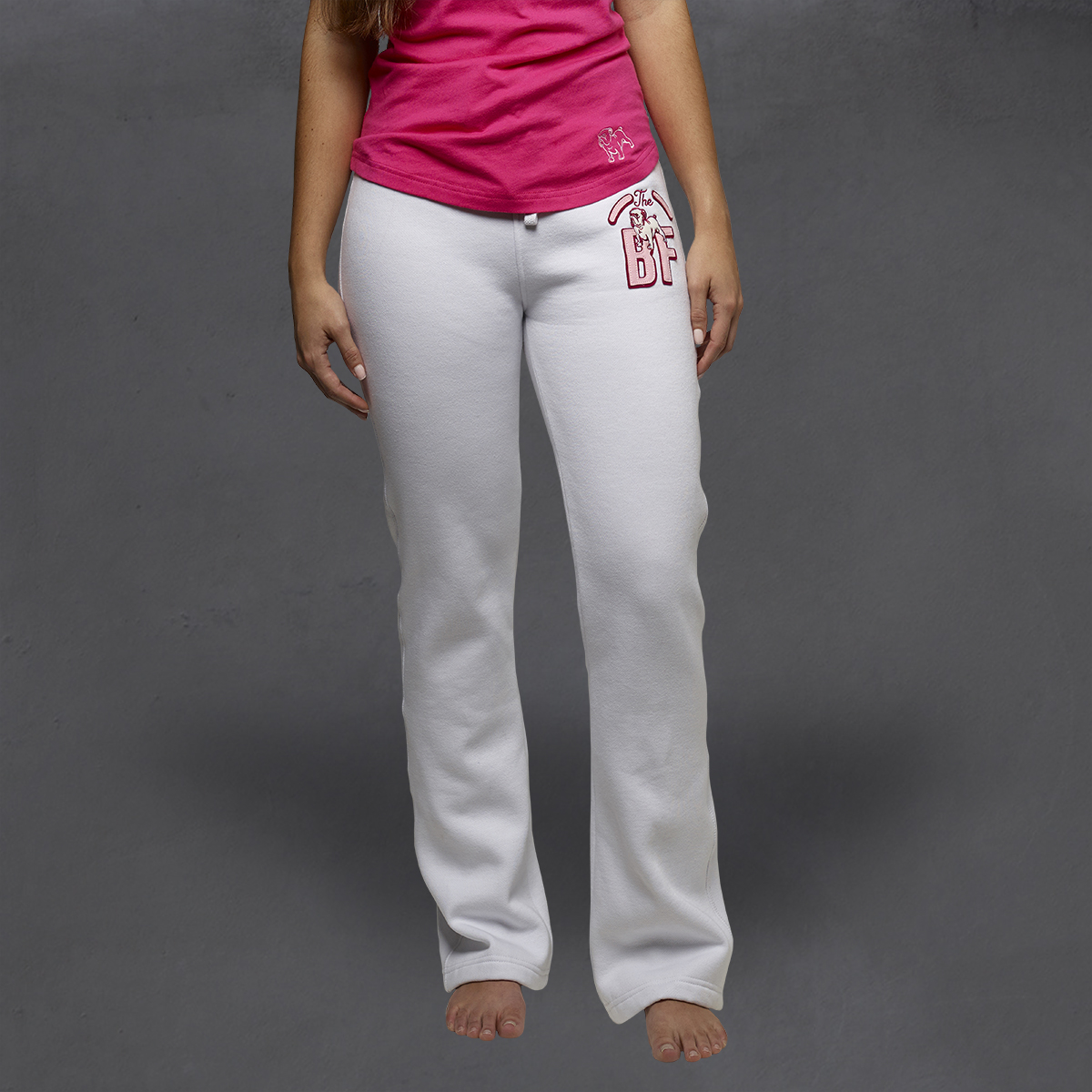 Girls Heritage Sweatpants - White