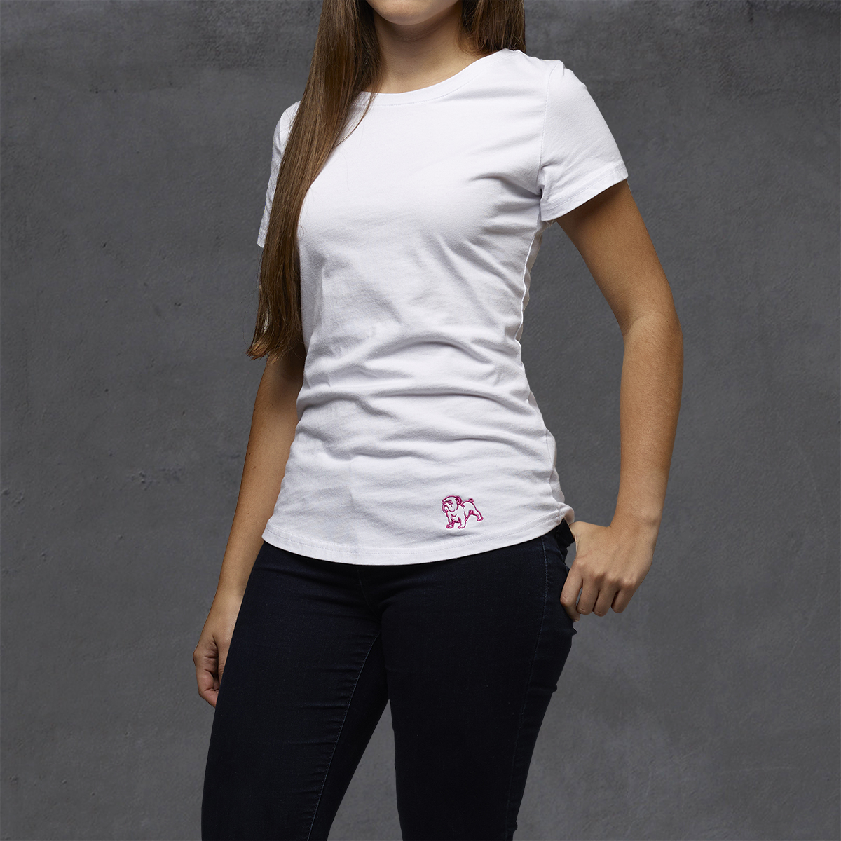 Girls Heritage Embroidered Ts - White