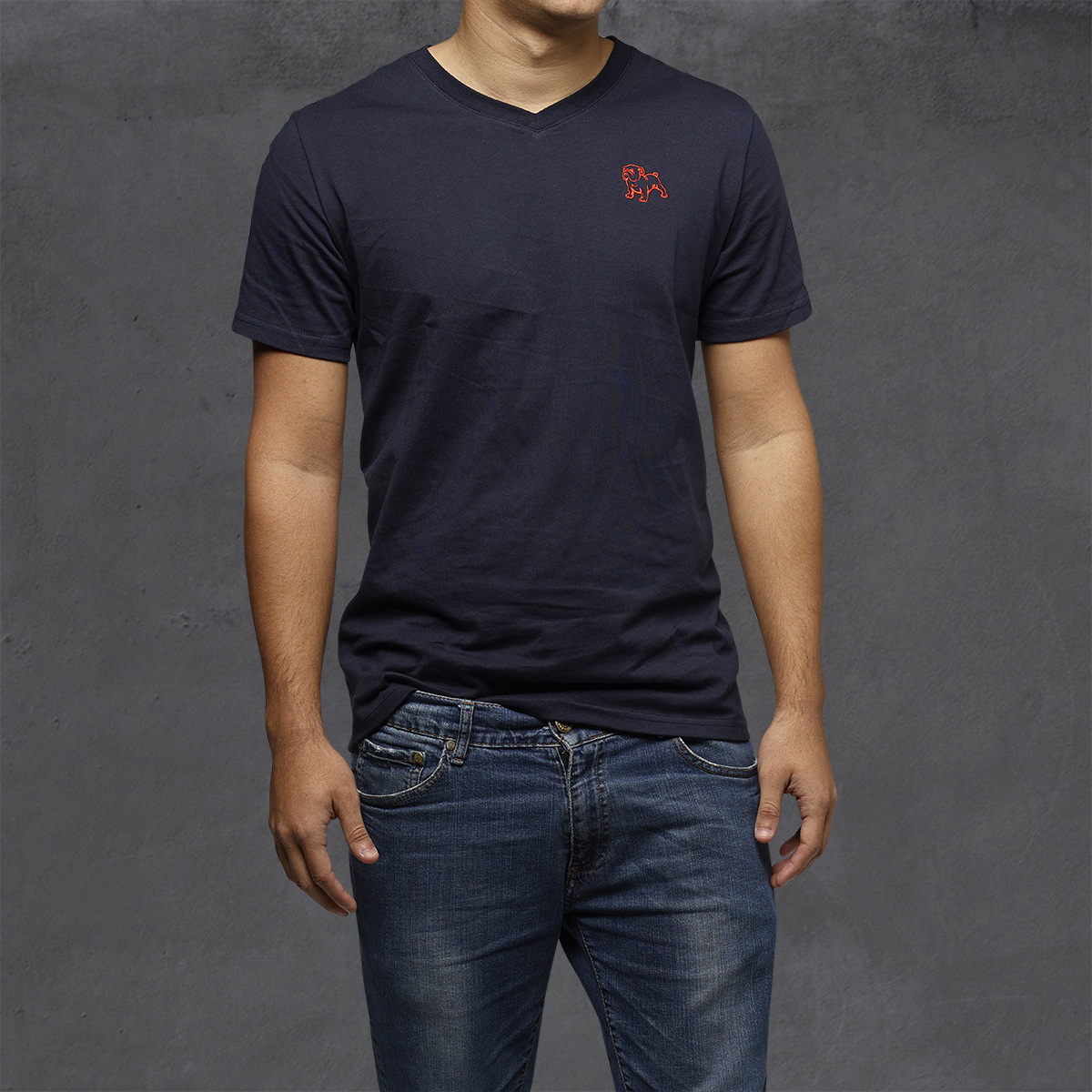 Guys Heritage V-Neck Ts - Eclipse