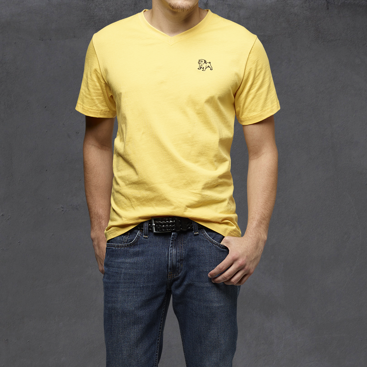 Guys Heritage V-Neck Ts - Yellow
