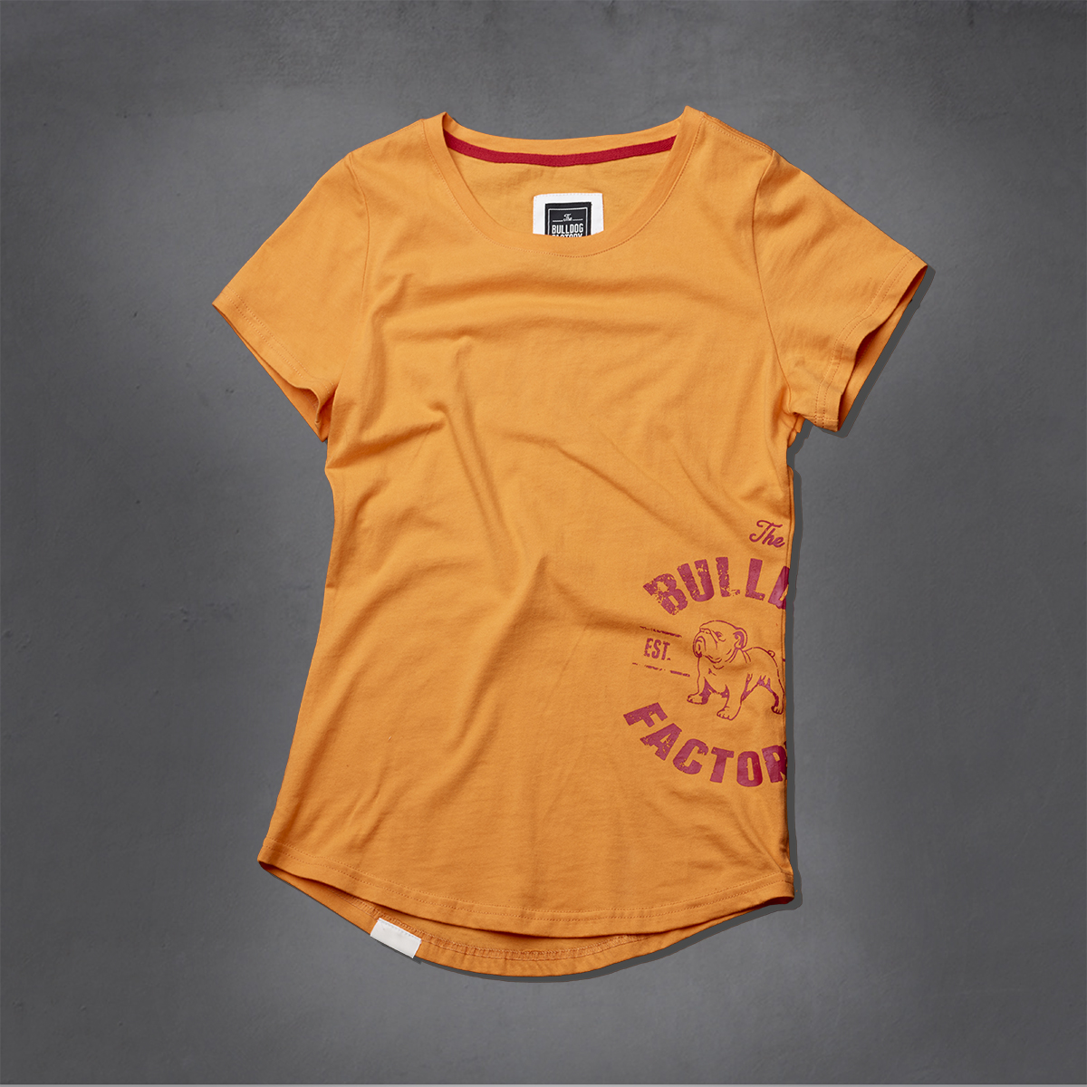 Girls Heritage Printed Ts - Flame Orange