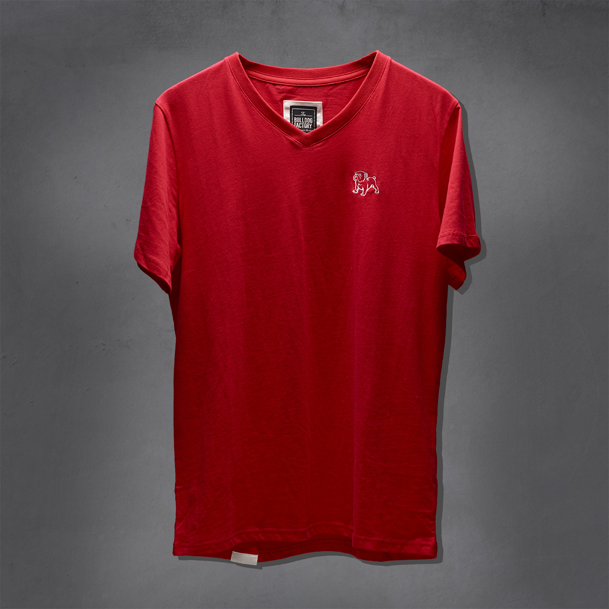 Guys Heritage V-Neck Ts - Cherry Tomato