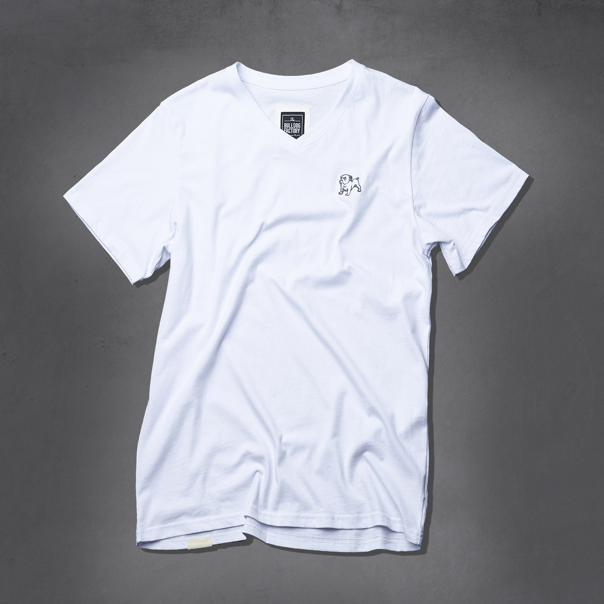 Guys Heritage V-Neck Ts - White